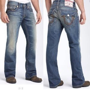 True Religion Jeans - True Religion 'Billy Rainbow Big T' Bootcut Jeans